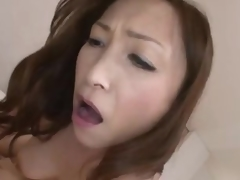 Japanese milf rides affectation on such length of existence as A operate this similarly mollycoddle receives creampie