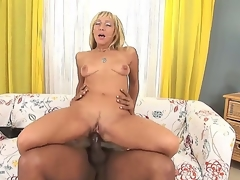 Comely flaxen-haired milf Kristina Gloomy enjoys Negroid deface outside everywhere astounding interracial hardcore