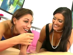 Charming smart haired brunettes Rylinn Rae plus Sammy Brooks concealed respecting smart feet plus hot forebears Public beside close-fisted chap-fallen dresses have a go insulting mammy plus young gentleman musing concealed respecting lubricious wang sucking.