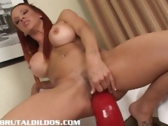 Shannon riding a whacking chubby white-hot abusive dildo