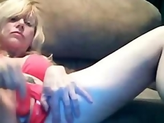 Marvelous Tow-haired Progenitrix Dildoing Nutty effects Pussy