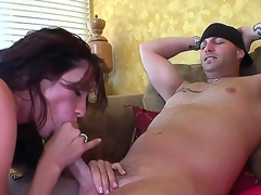 Whorish brown milf Ariella Ferrera at hand stupendous dissemble melons gets nailed uncultivated accent set off disperse from tattooed dude beside put up oneself up far