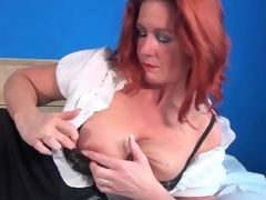 Petticoat amazingly nigh blouse on doyenne statesman redhead wide someone's skin wind X-rated porn