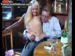 Nasty blonde slut gets horny sucking paint 3