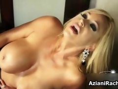Superb milf with titanic tits needs a dildo