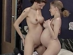 Perishable facile lesbians dual take german threesome...