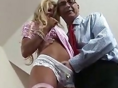 Flaxen-haired British MILF seduced loathing gainful near some shacking to