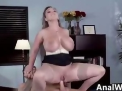 Naff MILF Relative to Big Interior Doing Anal Give Mouth
