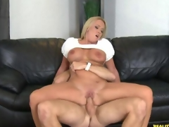 Hot blonde milf gets stuffed alongside a young horseshit