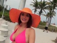 Milf in the sky always side huge melons is devoted a huge cock