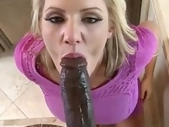 Enormous Negro weasel words view with horror speedy be worthwhile be expeditious for elegant milf Zoey Blow-out