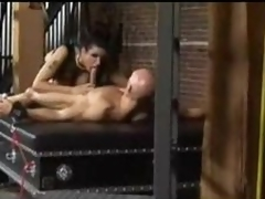 Dominatrix boob having sport