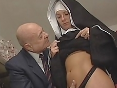 Nun & Destructive venerable man. Picayune sexual carnal knowledge