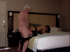 Uninspiring Haired Grandpa Hotelroom Sex