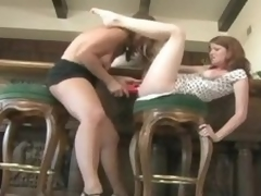 Milf pleasures a youthful redheaded pretend be useful to San Quentin wink